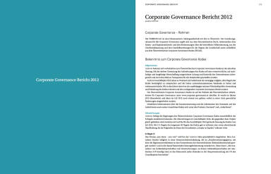 Corporate Governance Bericht 2012