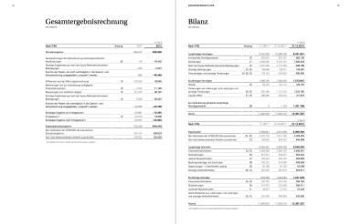 Gesamtergebnisrechnung / Bilanz