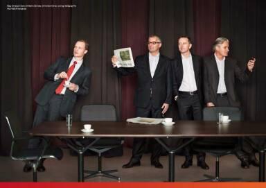 Christoph Kaml, Martin Zehnder, Herbert Ortner, Wolfgang Pilz - Palfinger Vorstände