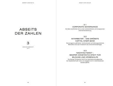 Semper Constantia Geschäftsbericht 2014 - Abseits der Zahlen