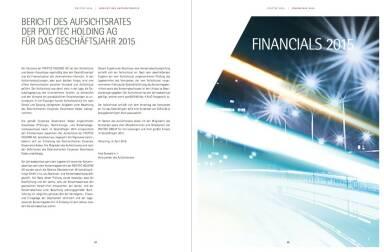 Polytec Geschäftsbericht - Financials 2015