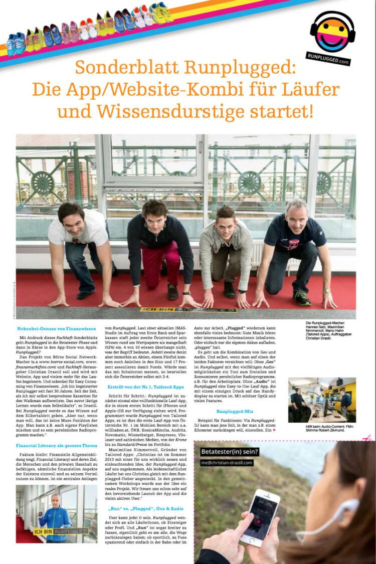 Sonderblatt Runplugged mit den Entwicklern von Tailored Apps und mir als Auftraggeber http://runplugged.com/static/fachheft18_rp.pdf